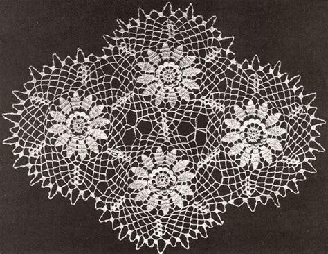 motif in pattern irish crochet lace vintage antique pattern book rose