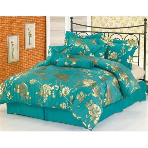 gold and teal bedding teal and metallic gold bedspread payton princess