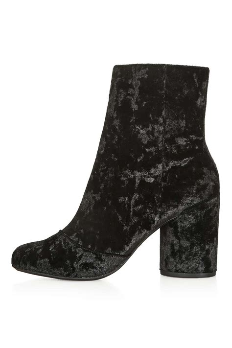 harry velvet ankle boots topshop