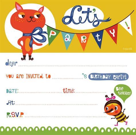 template undangan ulang tahun anak doc contoh undangan ulang tahun kreatif lengkap 2016