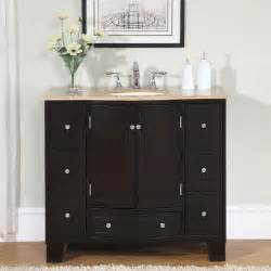 bathroom cabinets bath cabinet:  white marble stone top bathroom off center single sink vanity left