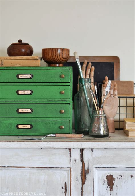 diy chalk paint furniture wax the painted hive how to create a vintage industrial look