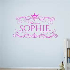 Wall Stickers Personalised Personalised Princess Wall Decal Vinyl Sticker Name Wall