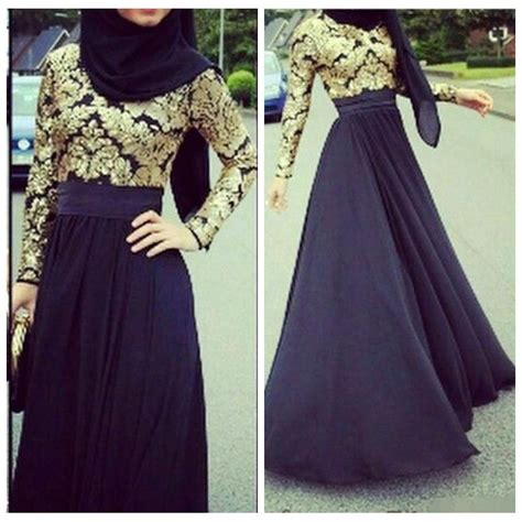 Promo 6965 Gold Maxi Maxi Dress Dress Muslim Murah Baju Muslim M vestidos de soiree 2016 muslim evening dresses formal prom dresses sleeves gold