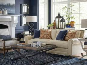 Blue Transitional Living Room Moody Monday Transitional Blues And Grays