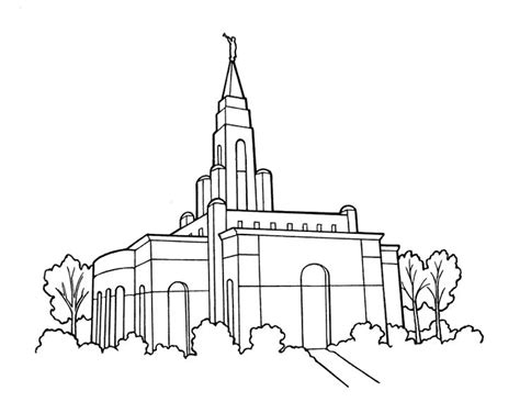 Lds Temple Primary Coloring Page Ldsprimary Lds Salt Lake Temple Coloring Page