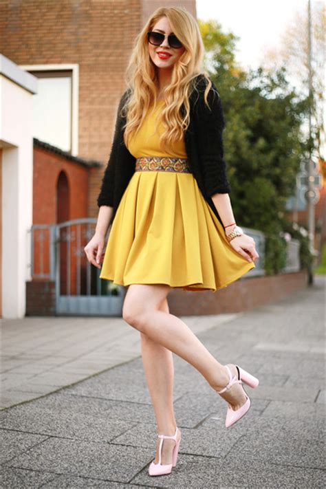 light pink zara shoes yellow finezze dresses black
