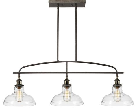 Industrial Style Island Lighting Felix 3 Light Pendant Industrial Kitchen Island Lighting By Highlight Usa Llc