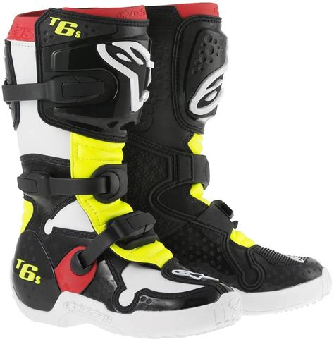 alpinestars tech 6 motocross boots 219 95 alpinestars tech 6s junior boots 8981