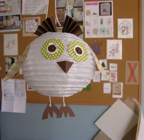 Paper Lantern Crafts - stee crafts hoot paper lantern owl project