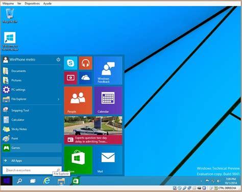imagenes de windows 10 y sus partes c 243 mo descargar e instalar windows 10 technical preview