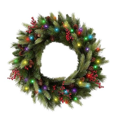 cordless lighted christmas wreaths princess decor