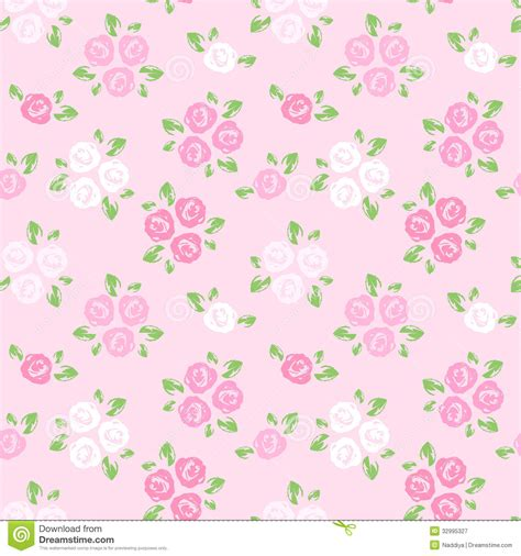 seamless pattern pink free seamless pattern with pink and white roses royalty free