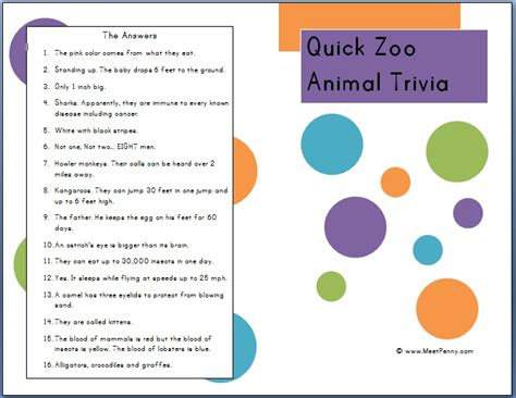 printable animal fun facts free worksheets 187 zoo animals worksheet free math