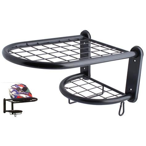 Motorcycle Helmet Shelf new motorcycle helmet gloves clothing kit black storage shelf tidy rack ebay