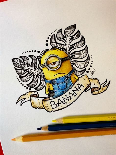 minion tattoo designs best 25 minion banana ideas on ideas