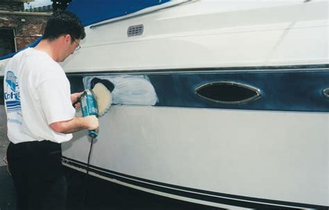 boat paint and repair restoring the shine to fiberglass boattech boatus