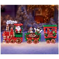 christmas outdoor decor santa express train christmas