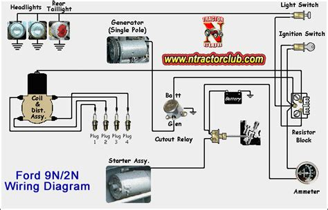 12 volt wiring diagram for 9n tractor 12 free engine