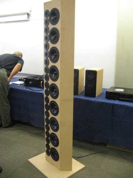 line array speakers diy report burning 2012