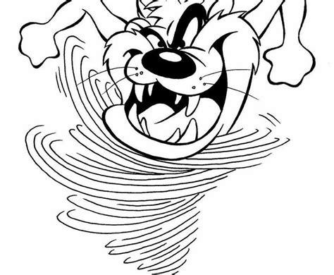 tasmanian devil cartoon characters az coloring pages