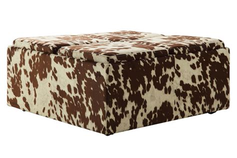 printed storage ottoman printed storage ottoman muted tone printed upholstery