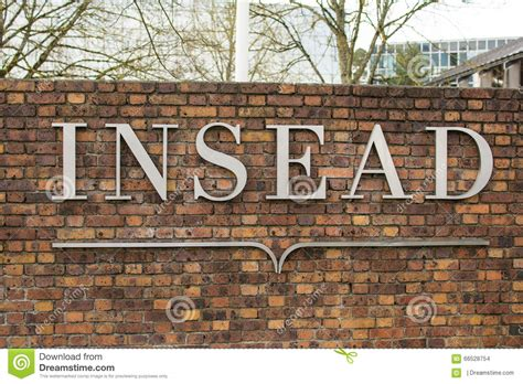 Fontainebleau Mba Ranking by Insead Brand Fontainebleau Cus Editorial Stock Image