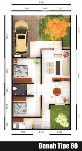 gambar contoh denah rumah minimalis type 60 minimalis modern model desain rumah terbaru