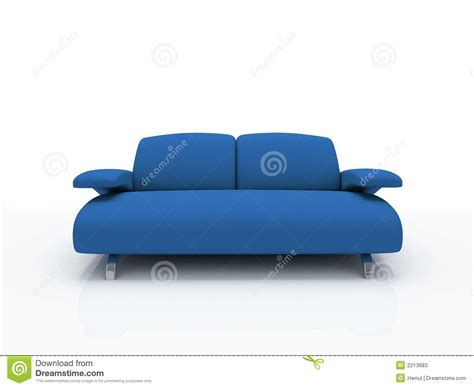 blue modern couch blue modern sofa stock photos image 2213683