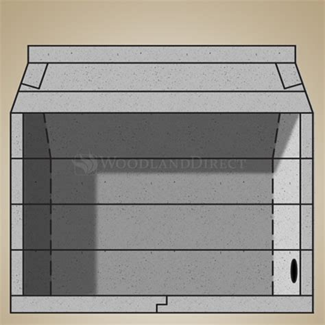 44 quot pre cast masonry vent free firebox kit