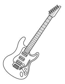 free coloring pages electric guitar coloring for kids and colouring pages on pinterest