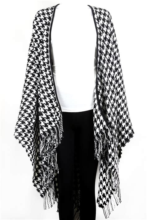 knitting pattern houndstooth scarf knitted houndstooth poncho scarves