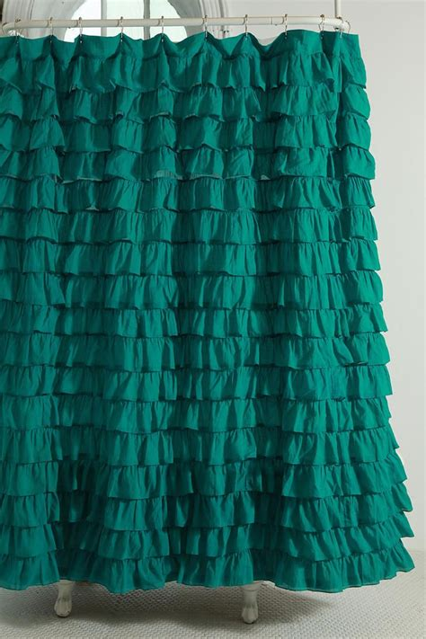 green ruffle shower curtain 25 best images about green bathroom on pinterest