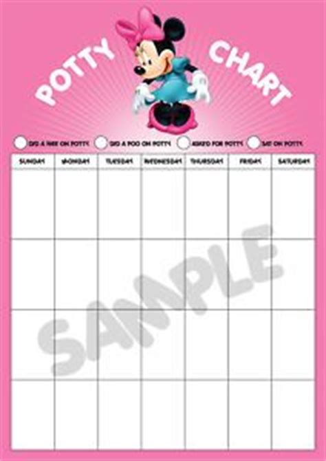 minnie mouse printable reward charts minnie mouse potty training reward chart large a3