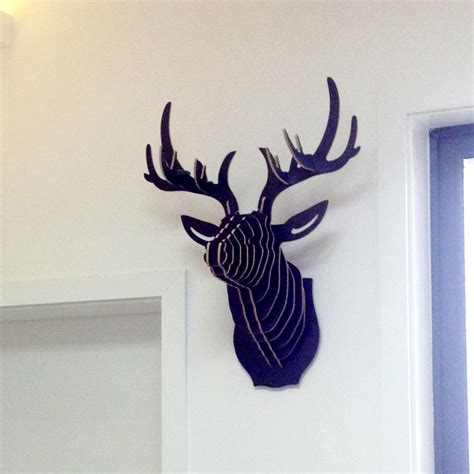 deer head home decor deer head wall diy wooden crafts for home decorations