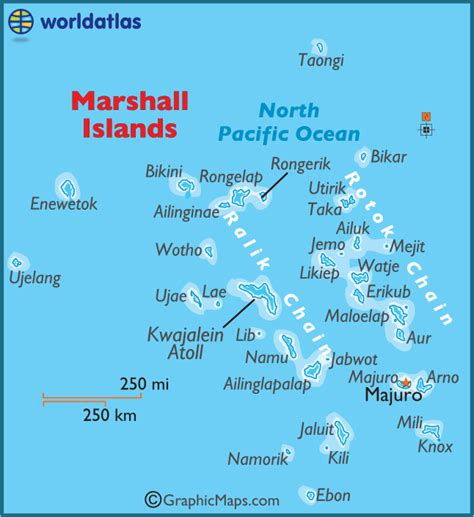 where are the marshall islands on a world map marshall islands large color map
