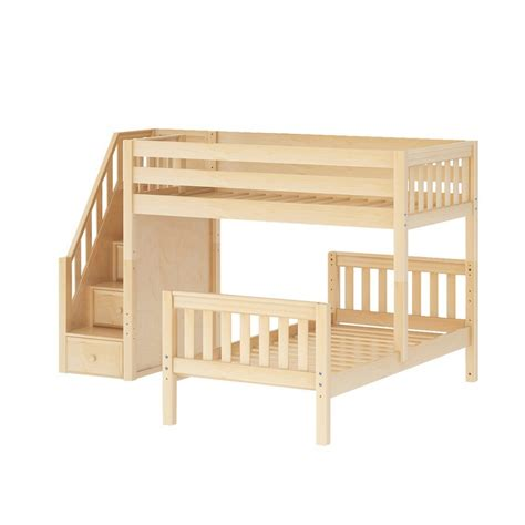 L Shaped Bunk Bed With Stairs Maxtrixkids Wangle Ns L Shaped Parallel Bunk W Staircase Slat L Shaped