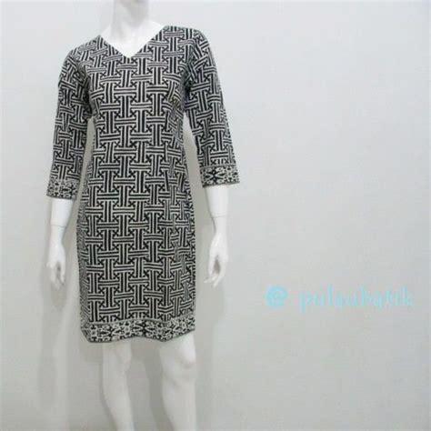 Dress Batik Fashion2 Wanita model baju dress batik panjang selutut yang modis