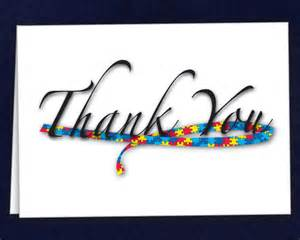 Thank You Note To Special Needs Autism Ribbon Thank You Cards