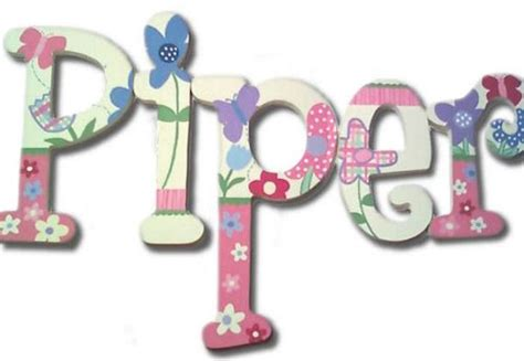Service Letter Piper pretty piper painted wall letters the frog and the