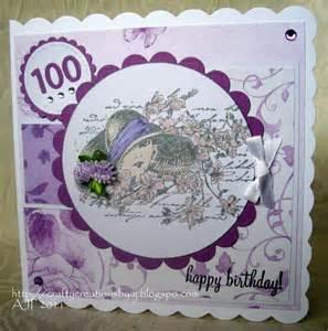 crafty creations by a j 100 years birthday card