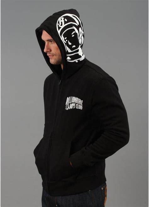 billionaire boys club helmet hooded jacket black