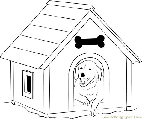 dog house coloring page dog house with window coloring page free dog house coloring pages coloringpages101 com