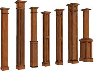 Nice Decorative Square Columns #3: Square_stain_grade_column_lists.png