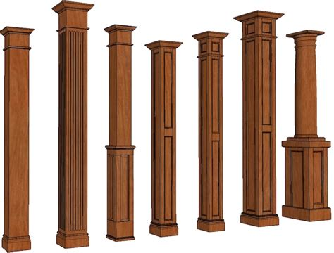 Home Depot Wall Stickers stain grade columns square wood columns elite trimworks