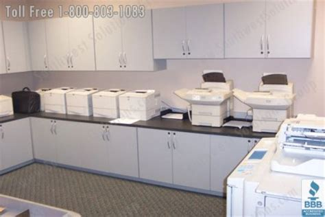 print room fax print copy center cabinets casework office supply storage mailroom furniture