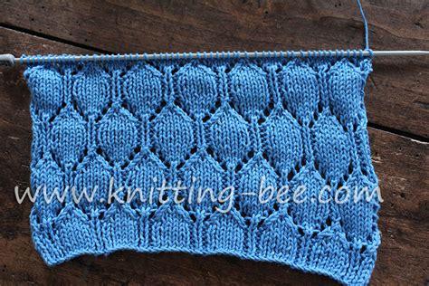 pattern library knitting oval lace pattern free knitting stitch knitting bee