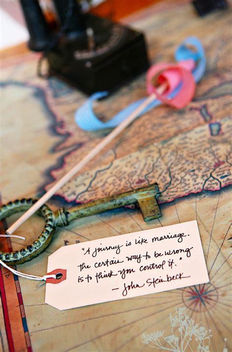 inspired wedding ideas  travel theme homemydesign