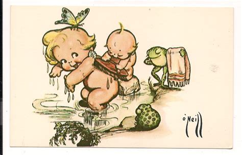 kewpie illustrations judy s postcards plus o neill kewpie postcard from