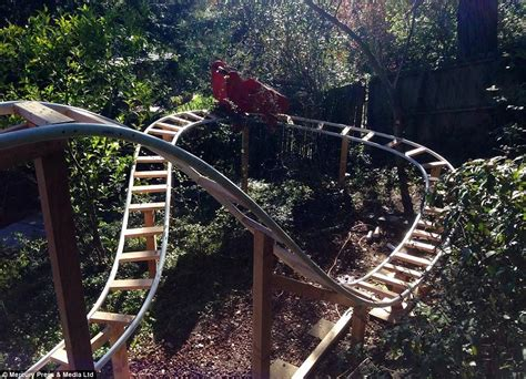 Backyard Rollercoaster by Californian Builds Roller Coaster In His Back Garden